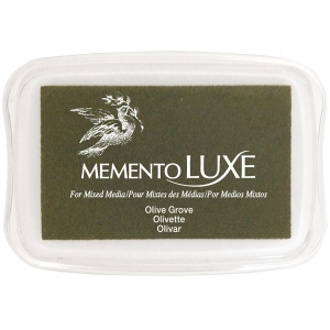 Tsukineko Memento Luxe Inkpad: Olive Grove