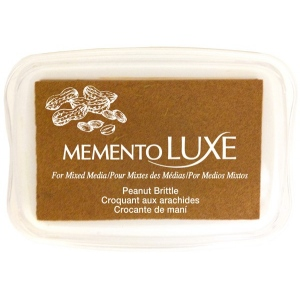 Tsukineko Memento Luxe Inkpad: Peanut Brittle