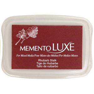 Tsukineko Memento Luxe Inkpad: Rhubarb Stalk