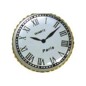 "Stanislaus Imports, Inc. Paris Clock: Nickel, 3/4"", 12 Pc"