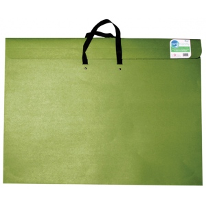 "Star® 14"" x 20"" Earth Friendly Portfolio; Color: Green; Gusset Size: 2""; Material: Recycled Fiberboard; Size: 14"" x 20""; (model G316H), price per each"