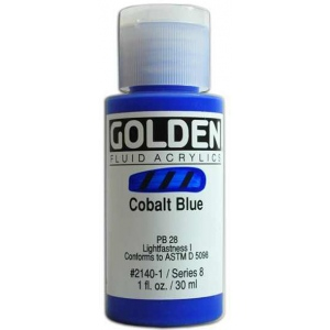 Golden Fluid Acrylics: Cobalt Blue, 1 oz.