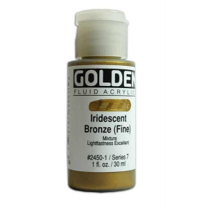 Golden Fluid Acrylics: Iridescent Bronze Fine, 1 oz.