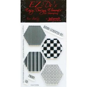 KellyCraft EZ-De's Hexagon Stamp Set A