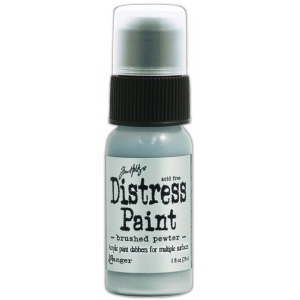 Ranger Tim Holtz Distress Paint: Metallic, Brushed Pewter