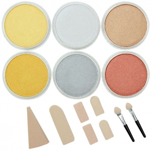 PanPastel® Ultra Soft Artists' Painting Pastel Metallics 6-Color Set; Color: Metallic; Format: Pan; Type: Soft; (model PP30061), price per set