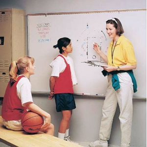 """Ghent® 4' x 5'  Magnetic Dry Erase Markerboard Aluminum Frame: 48"""" x 60"""", Dry Erase, (model M1-45-4), price per each"""