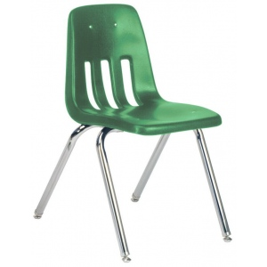 "Virco Classic Classroom Chair: 16"", Green 34"