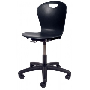 "Virco Zuma 14"" -17"" Black Task Chair"