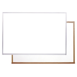 "Ghent® Acrylate White Markerboard 48.5"" x 96.5"" Wood Frame; Size: 4' x 8'; Type: Dry Erase; (model M2W-48-0), price per each"