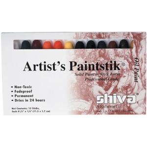 Shiva® Paintstik® Oil Paint Artist Color 12-Piece Professional Set; Color: Multi; Format: Stick; Type: Oil; (model SP121502), price per set
