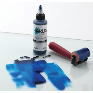 Akua Liquid Pigment™ Printmaking Ink 4oz Phthalo Blue; Color: Blue; Format: Bottle; Ink Type: Pigment; Size: 4 oz; (model AKPB), price per each