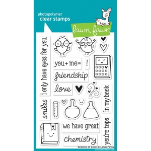 Lawn Fawn Science of Love Stamp Set