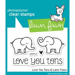 Lawn Fawn Love You Tons Stamp Set