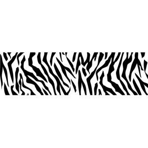 "ColorBox® Molding Mat Zebra; Color: Black/Gray; Material: Rubber; Size: 2"" x 7""; Type: Molding Mat; (model CS69407), price per each"