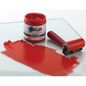 Akua Intaglio™ Printmaking Ink 8oz Scarlet Red: Red/Pink, Jar, Water-Based, 8 oz, (model IISR), price per each