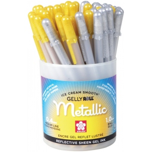 Gelly Roll® Gold/Silver Metallic Pen Display Assortment; Color: Metallic; Ink Type: Gel; Tip Size: 1mm; Type: Multi; (model S57412D), price per each