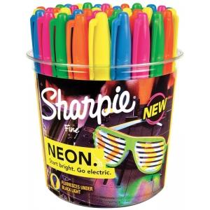 Sharpie® Neon Permanent Marker 36-Piece Display; Color: Multi; Tip Type: Fine Nib; (model SN1875609D), price per each