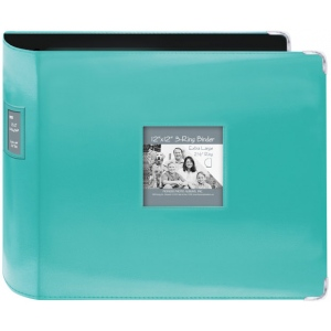 "Pioneer® 12"" x 12"" XL D-Ring Leatherette Scrapbook Binder Bright Blue; Color: Blue; Material: Leatherette; Size: 12"" x 12""; (model T12JF/CBL), price per each"
