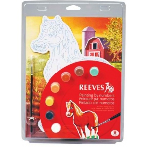 "Reeves™ Color & Shape Painting by Number Horse Set: Multi, 9 3/4"" x 13"", (model PBNCS4), price per set"