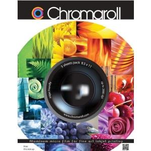 "Chromaroll™ 13"" x 19"" Fine Art Printing Metal Sheets; Format: Sheet; Size: 13"" x 19""; Type: Metal; (model CHR13195), price per pack"