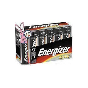 Energizer Industrial Batteries: AA, Pack of 24