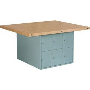 Shain Steel Workbench with 4 Vises