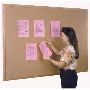Ghent® Wood Frame Traditional Cork Bulletin Board 4' x 10': 10' x 4', Cork Board, (model WK410), price per each