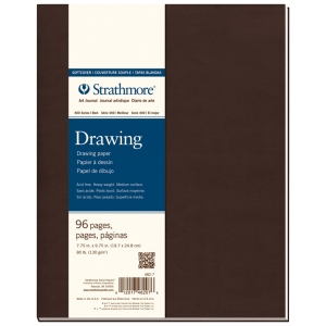 "Strathmore® 400 Series Soft Cover Drawing Journal 7.75"" x 9.75""; Binding: Sewn Bound; Color: White/Ivory; Format: Journal; Quantity: 96 Pages; Size: 7 3/4"" x 9 3/4""; Texture: Medium; Type: Drawing; Weight: 80 lb; (model ST482-7), price per each"
