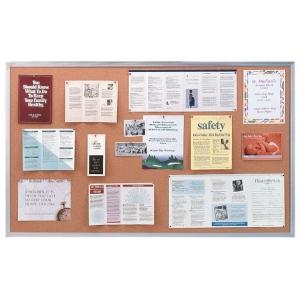 Ghent® Aluminum Frame Traditional Cork Bulletin Board 4' x 10': 10' x 4', Cork Board, (model AK410), price per each