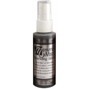 Memories™ Mist Spray Ink Sparkling Silver; Color: Metallic; Format: Spray Bottle; Ink Type: Pigment; Size: 2 oz; (model SSMMSL), price per each