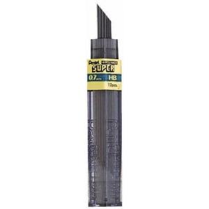 Pentel® Super Hi-Polymer® Super Lead .7mm 2H; Degree: 2H; Lead Color: Black/Gray; Lead Size: .7mm; Type: Lead; (model 50-7-2H/BX), price per box