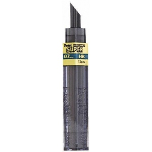 Pentel® Super Hi-Polymer® Super Lead .7mm 4H: 4H, Black/Gray, .7mm, 12-Pack, Lead, (model 50-7-4H/BX), price per 12-Pack box
