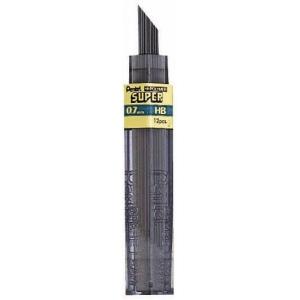 Pentel® Super Hi-Polymer® Super Lead .7mm H: H, Black/Gray, .7mm, 12-Pack, Lead, (model 50-7-H/BX), price per 12-Pack box
