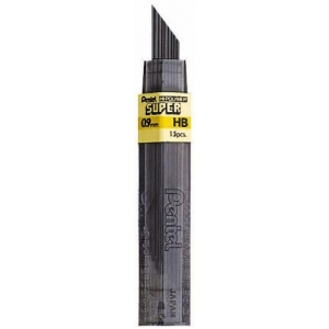 Pentel® Super Hi-Polymer® Super Lead .9mm 2B: 2B, Black/Gray, .9mm, 12-Pack, Lead, (model 50-9-2B/BX), price per 12-Pack box
