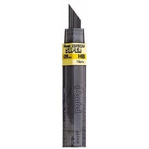Pentel® Super Hi-Polymer® Super Lead .9mm B: B, Black/Gray, .9mm, 12-Pack, Lead, (model 50-9-B/BX), price per 12-Pack box
