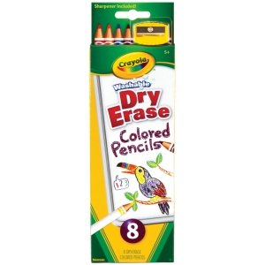 Crayola® Dry Erase Colored Pencils: Multi, Pencil, Colored, (model 98-8663), price per set