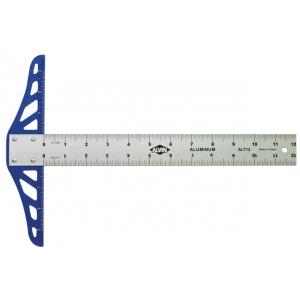 """Alvin® ALT Series 12"""" Aluminum Graduated T-Square; Material: Aluminum; Size: 12""""; Type: T-Square; (model ALT12), price per each"""