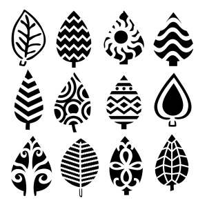 """The Crafter's Workshop 12"""" x 12"""" Design Template Abstract Leaves: 12"""" x 12"""", Patterned Stencil, (model TCW395), price per each"""