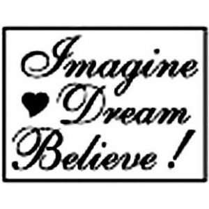 Manuscript Decorative Resin Wax Seal Imagine Dream Believe: Rectangle, 29 mm x 23 mm, (model MSH7272RIDB), price per each
