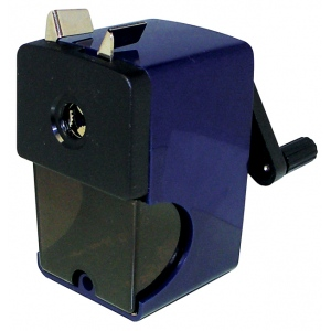 Alvin® Auto-Feed Pencil Sharpener; Color: Blue; Holes: One; Material: Plastic; Type: Manual; (model B22), price per each