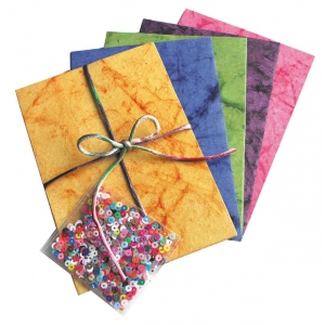 "Blue Hills Studio™ Treasure Chest™ Card Kit Marble Sequin Multi; Color: Multi; Envelope Included: Yes; Format: Card; Size: 4 1/8"" x 5 5/8""; (model BHS303), price per pack"