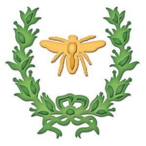 Spellbinders Die D-Lites Laurel and Bee