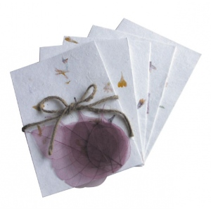 """Blue Hills Studio™ Treasure Chest™ Card Kit Mulberry with Silk Leaves: Multi, Envelope Included, Card, 4 1/8"""" x 5 5/8"""", (model BHS302), price per pack"""
