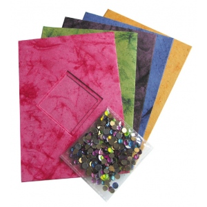 """Blue Hills Studio™ Treasure Chest™ Card Kit Marble Diamond Sequin Multi; Color: Multi; Envelope Included: Yes; Format: Card; Size: 4 1/8"""" x 5 5/8""""; (model BHS307), price per pack"""