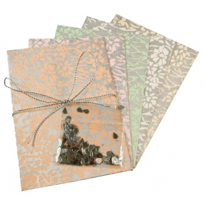 "Blue Hills Studio™ Treasure Chest™ Card Kit Metallic Floral with Silver Accents; Color: Multi; Envelope Included: Yes; Format: Card; Size: 4 1/8"" x 5 5/8""; (model BHS312), price per kit"