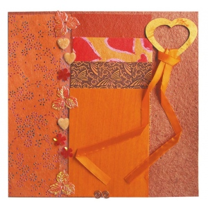 """Blue Hills Studio™ Treasure Chest™ Paper Collection Embellishment Pack Fire Opal: Orange, Paper, 12"""" x 12"""", Dimensional, (model BHS202), price per pack"""