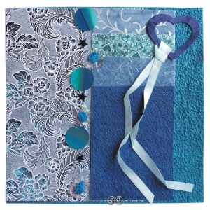 """Blue Hills Studio™ Treasure Chest™ Paper Collection Embellishment Pack Sapphire; Color: Blue; Material: Paper; Size: 12"""" x 12""""; Type: Dimensional; (model BHS205), price per pack"""