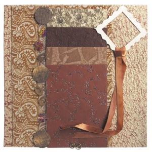 "Blue Hills Studio™ Treasure Chest™ Paper Collection Embellishment Pack Tiger's Eye; Color: Brown; Material: Paper; Size: 12"" x 12""; Type: Dimensional; (model BHS206), price per pack"