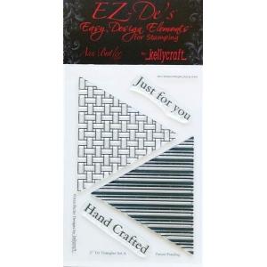 KellyCraft EZ-De's Tri Triangle Stamp: Set A